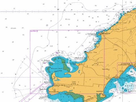 A  Courland Point to Sandy Point Marine Chart - Nautical Charts App