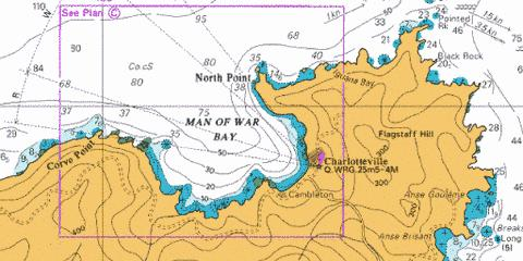 C  Man of War Bay Marine Chart - Nautical Charts App