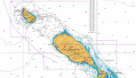 Saint Christopher Saint Kitts Sint Eustatius And Saba Marine - Sint eustatius map