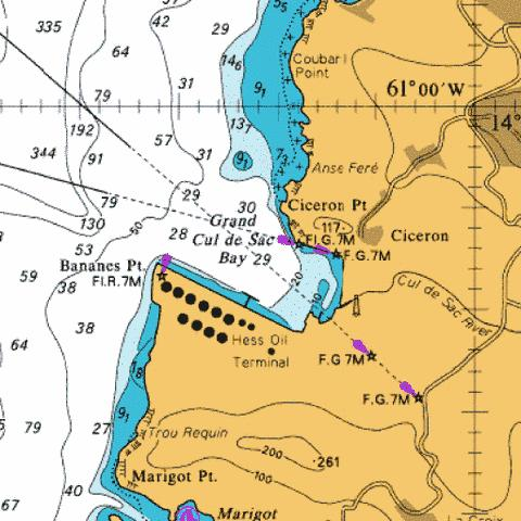 C  Grand Cul de Sac Bay Marine Chart - Nautical Charts App