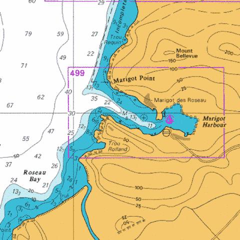 D  Marigot Harbour Marine Chart - Nautical Charts App