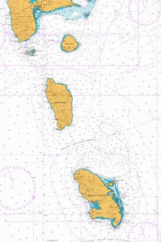 Southern Guadeloupe to Northern Martinique Marine Chart - Nautical Charts App