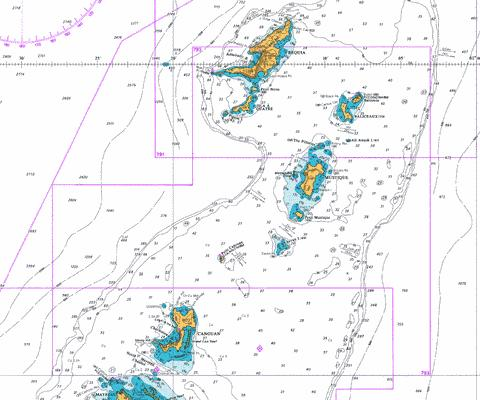 Bequia to Canouan Marine Chart - Nautical Charts App