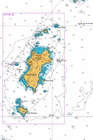 A  Mustique Marine Chart - Nautical Charts App