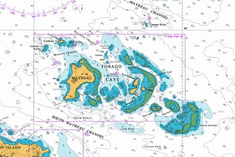 A  Tobago Cays Marine Chart - Nautical Charts App