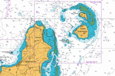 A  Watering Bay and Approaches Marine Chart - Nautical Charts App