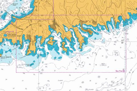 A  Saint David's Harbour to Prickly Bay Marine Chart - Nautical Charts App