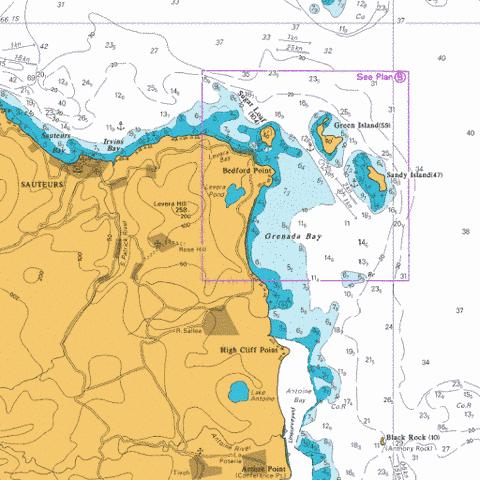B  Grenada Bay and Approaches Marine Chart - Nautical Charts App