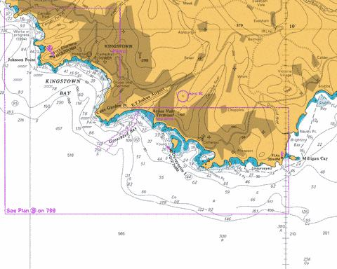 B  Kingstown Harbour and Approaches Marine Chart - Nautical Charts App