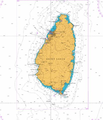 Saint Lucia (Marine Chart : CB_GB_1273_0) | Nautical Charts App