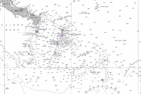 Turks Island Passage and Mouchoir Passage Marine Chart - Nautical Charts App