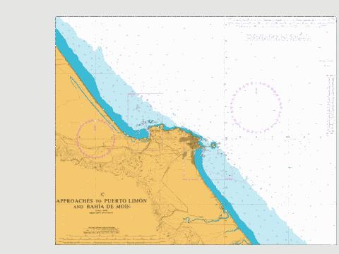 C  Approaches to Puerto Limon and Bahia de Moin Marine Chart - Nautical Charts App