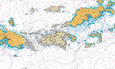 Road Harbour to Capella Islands Marine Chart - Nautical Charts App