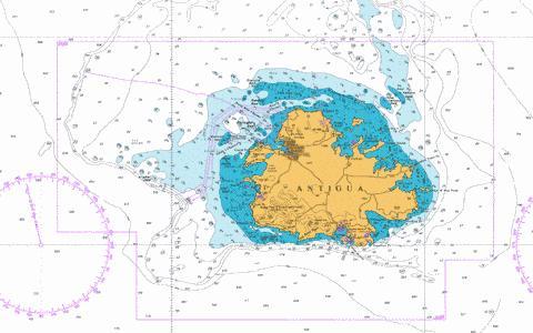 Antigua marine chart cb gb 2064 0 nautical charts app