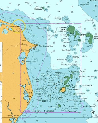 River Hueson to False Cape including Morrison and Mosquito Cays Marine Chart - Nautical Charts App
