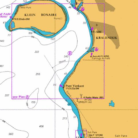 A Approaches to Kralendijk Marine Chart - Nautical Charts App