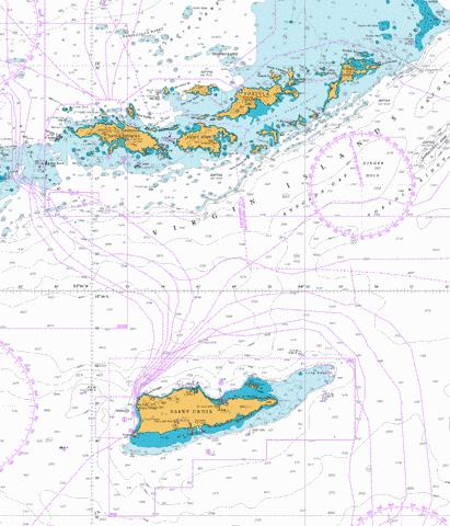 virgin islands virgin gorda to st thomas and st croix marine chart nautical charts app