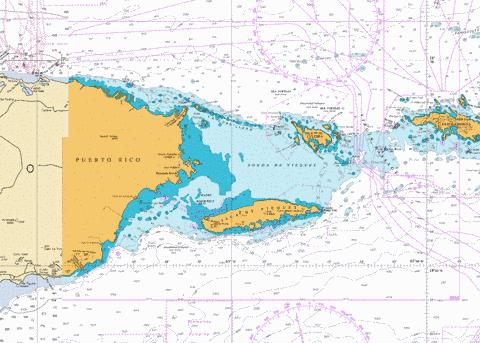 VIRGIN PASSAGE AND SONDA DE VIEQUES WEST INDIES Marine Chart - Nautical Charts App
