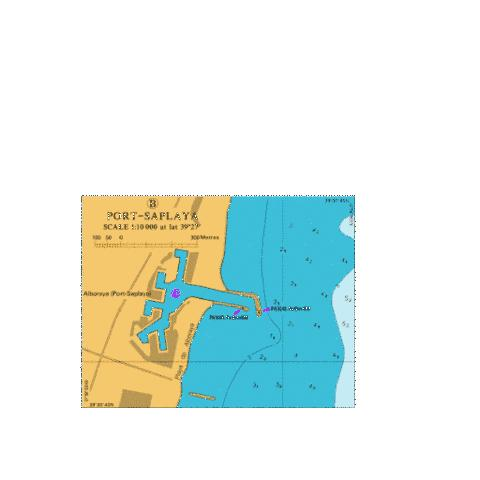 B Port Saplaya Marine Chart - Nautical Charts App