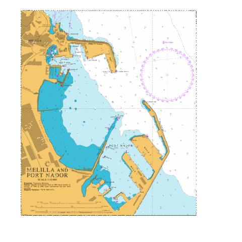 C Melilla and Port Nador Marine Chart - Nautical Charts App