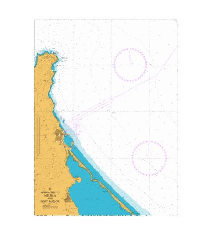 D Approaches to Melilla and Port Nador Marine Chart - Nautical Charts App