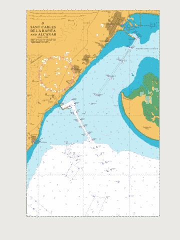 Alcanar Spain Map.D Sant Carles De La Rapita And Alcanar Marine Chart Es 1515 4