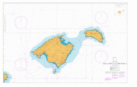 Mallorca and Menorca Marine Chart ES17030 Nautical Charts App