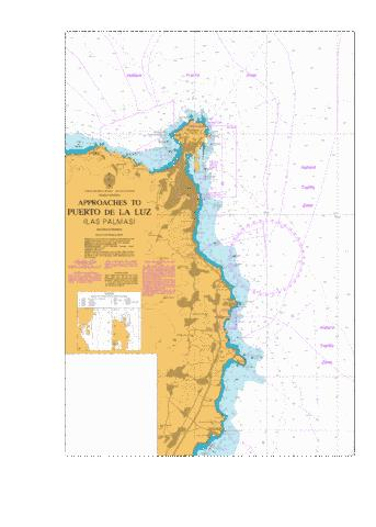 Approaches to Puerto de La Luz (Las Palmas) Marine Chart - Nautical Charts App