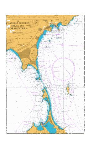 A Channels Between Ibiza and Formentera Marine Chart - Nautical Charts App