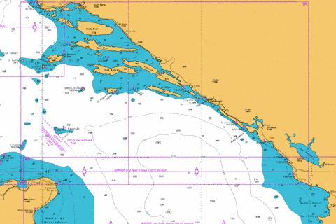 Bar to Split including Otok Palagruza Marine Chart - Nautical Charts App