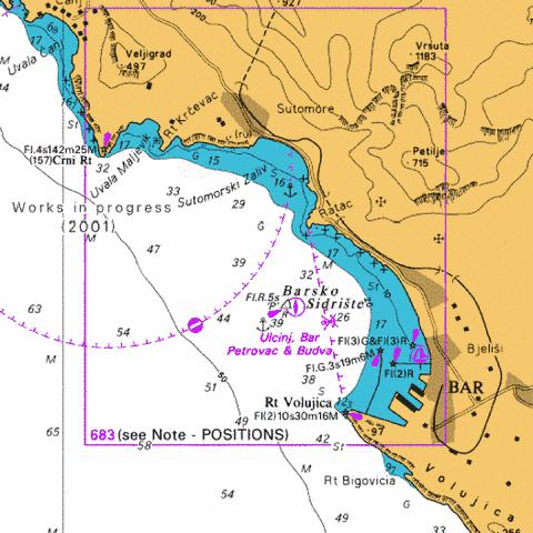 Bar Marine Chart - Nautical Charts App