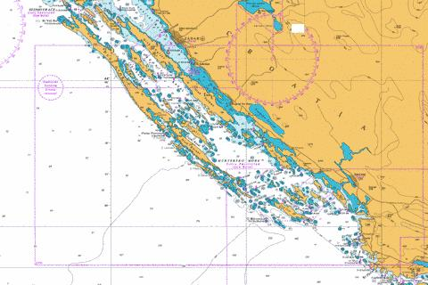 Rogoznica to Zadar Marine Chart - Nautical Charts App