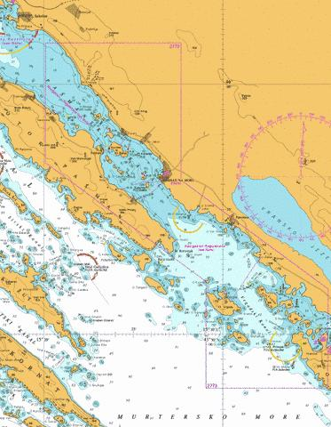 D Pasmanski Kanal and Southern Approaches Marine Chart - Nautical Charts App