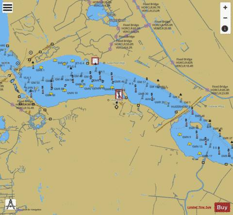 Inland Waterways : 1R5RM004 Marine Chart - Nautical Charts App