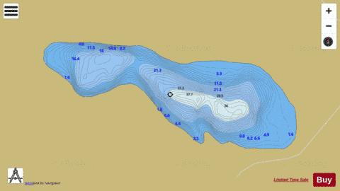 Muckno Mill Lough Fishing Map - i-Boating App