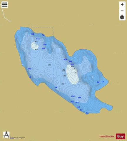 Bleach Lough Fishing Map - i-Boating App