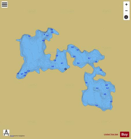 Canagun ( Lough ) Fishing Map - i-Boating App