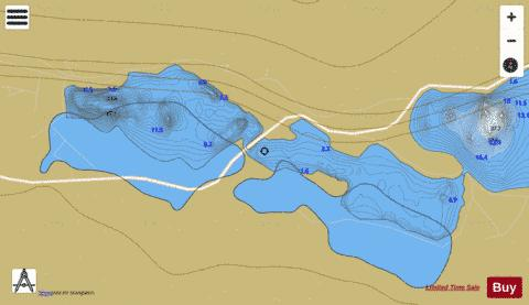 Pollacappul Lough Fishing Map - i-Boating App