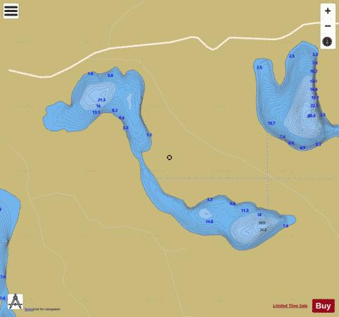 Ardan Lough Fishing Map - i-Boating App