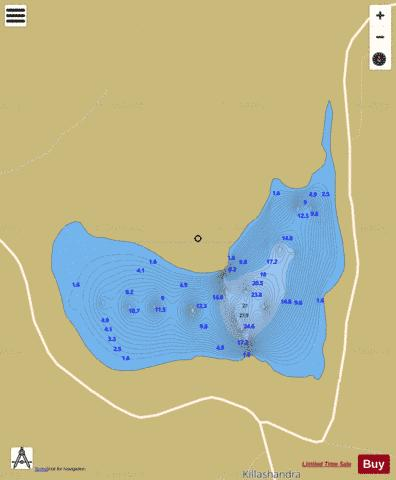 Town Lough Fishing Map - i-Boating App