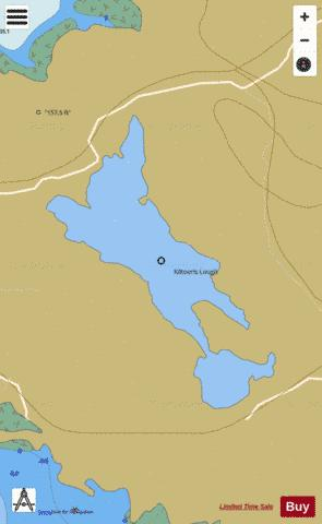 Kiltooris Lough Fishing Map - i-Boating App