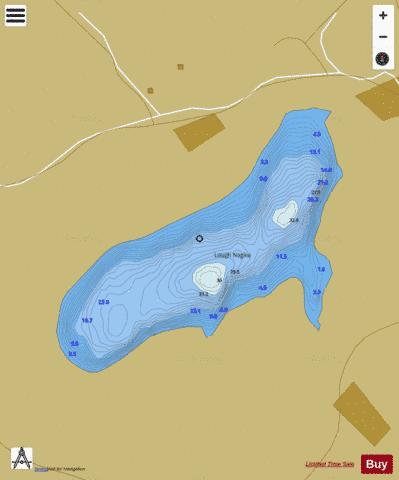 Naglea ( Lough ) Fishing Map - i-Boating App
