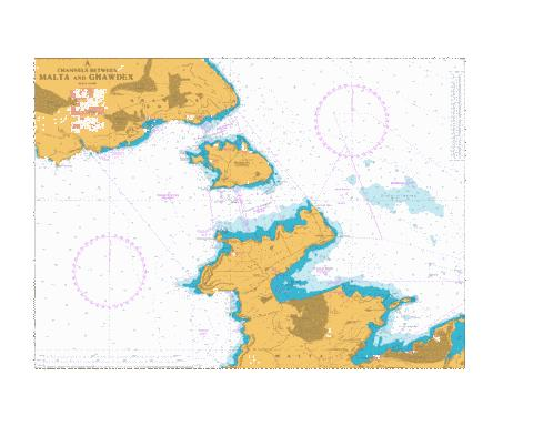 A - Channels between Malta and Ghawdex Marine Chart - Nautical Charts App