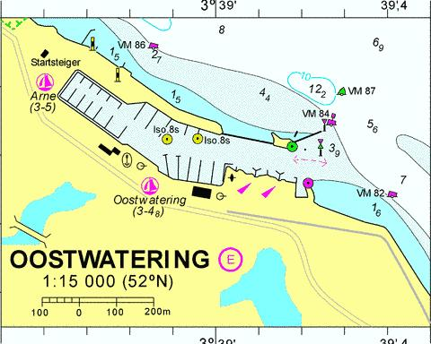 18052E - Oostwatering Marine Chart - Nautical Charts App