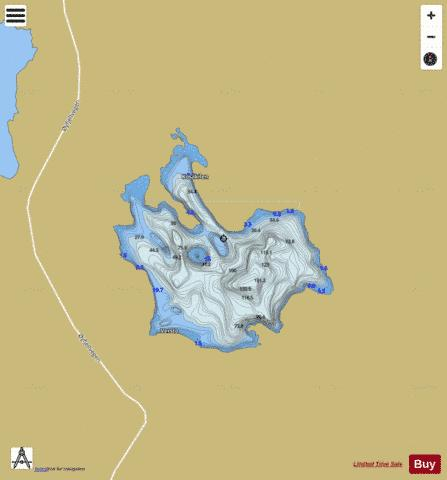 Ljosdalsvatnet Fishing Map - i-Boating App