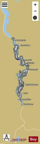 Byglandsfjorden Fishing Map - i-Boating App