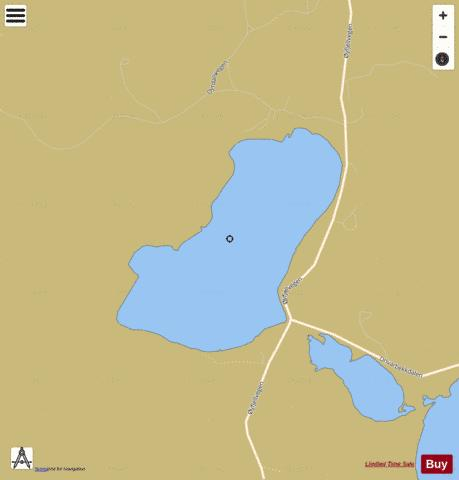 Dyrdalsvatnet Fishing Map - i-Boating App