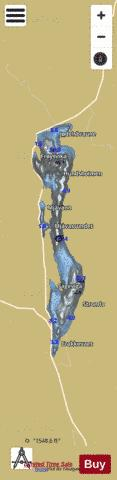 Galdalsvatnet Fishing Map - i-Boating App