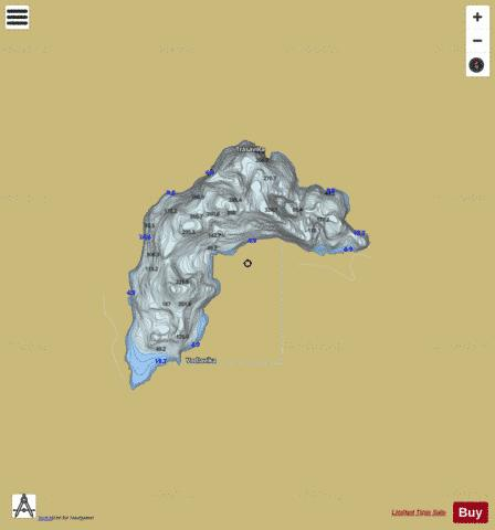 Sandsavatnet Fishing Map - i-Boating App