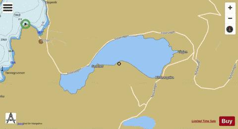 Hetlandsvatnet Fishing Map - i-Boating App